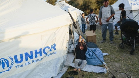 Greece. UNHCR ramps up support after fire destroys Moria reception centre