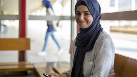 "UNHCR, the UN Refugee Agency - Weaam and her family left Syria in 2014, fleeing from bombs and bullets.  Weaam had to overcome many challenges but eventually succeeded. Thanks to a scholarship program, she now studies Computer Science. She has great ambitions for the future: ""My dream is to stand someday on a large stage to share my story and challenges and to encourage everyone to continue working to achieve their dreams."""