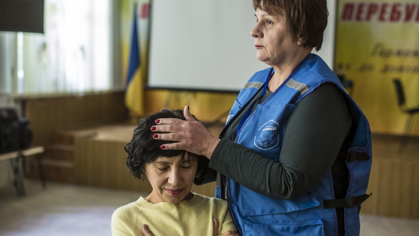 Ukraine. People living in the contact zone are getting psychological support