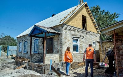 UNHCR and NRC repaired 5,000 homes destroyed during the conflict in the east of Ukraine