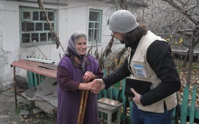 UNHCR supports pensioners on both sides of the contact line in Ukraine