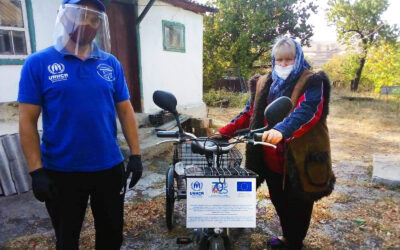 UNHCR and the EU ensure mobility for social workers along the contact line in Ukraine