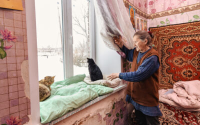 Funding from the People of Japan brings warmth to homes nearby the contact line in eastern Ukraine